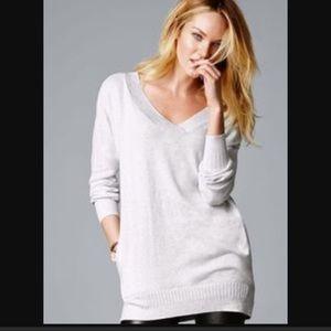 Victoria's Secret Heather Gray Tunic Sweater